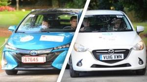 Mazda2 e Toyota Prius Plug-in, consumi record alla MPG Marathon