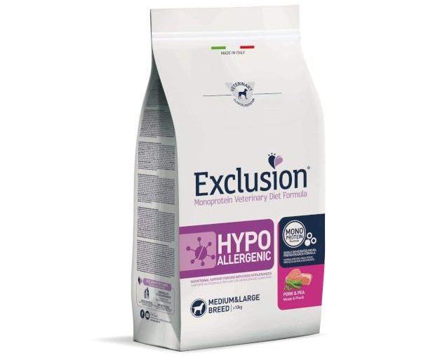 Exclusion Hypoallergenic Maiale & Piselli Medium Large 7 Kg