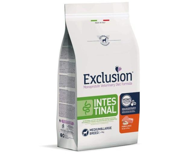 Exclusion Intestinal Medium Large con Maiale E Riso 7 Kg