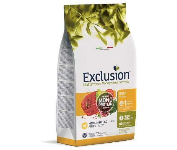 Exclusion Medium Adult Manzo 3 Kg