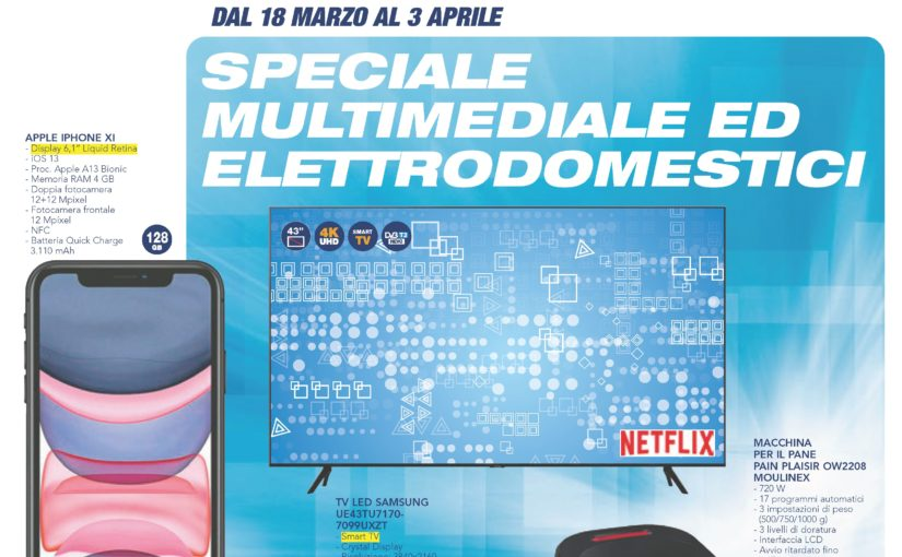 "Volantino Esselunga ""Speciale Multimediale"" 18 mar – 3 apr: Apple AirPods Pro, Galaxy A51 e tanti Smart TV in Offerta (foto)"