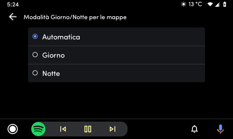 Android Auto: ecco il toggle per la modalità notte (finalmente!)
