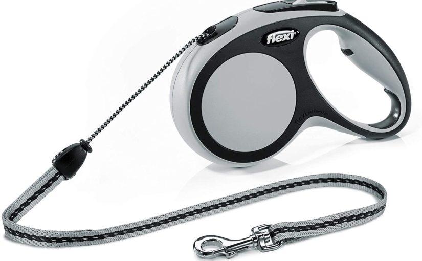 Flexi CF20C8 New Comfort – Guinzaglio retrattile, Per cani fino a max. 20 kg, Grigio/Nero, Medium, 8 m