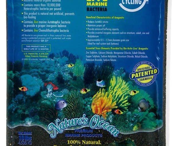 Nature's Ocean Bio-Activ – Sabbia Vivente per Acquario, 4,5 kg, Colore: Nero