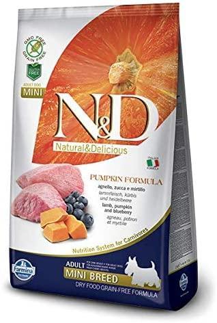 N&D Pumpkin Grain Free Adult Mini con Agnello, Zucca e Mirtillo 800 Gr