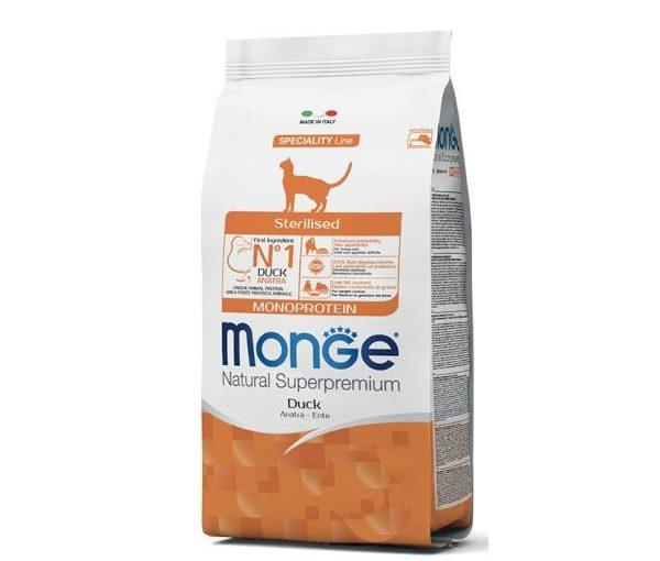 Monge Adult Sterilised Monoproteico Anatra 10 kg