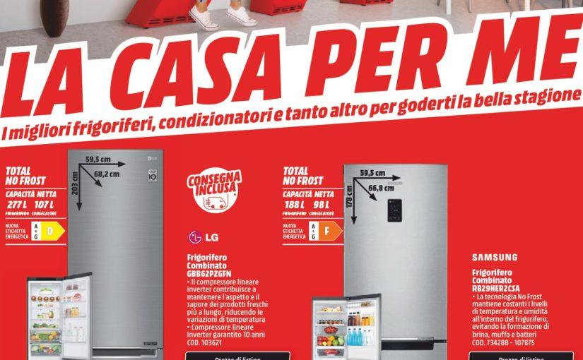"""Volantino MediaWorld """"La casa per me"""" 14-30 giugno: Dyson, LG e Samsung a buon prezzo (foto)"""
