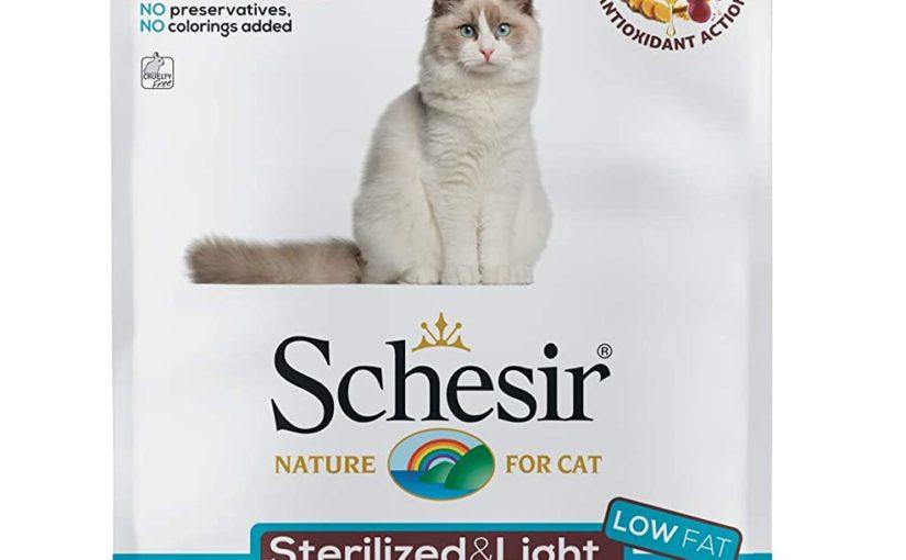 Schesir, Cibo Secco per Gatti Adulti Sterilizzati o in Sovrappeso Linea Light al Gusto Pesce, in Crocchette – Formato Sacco da 10 kg