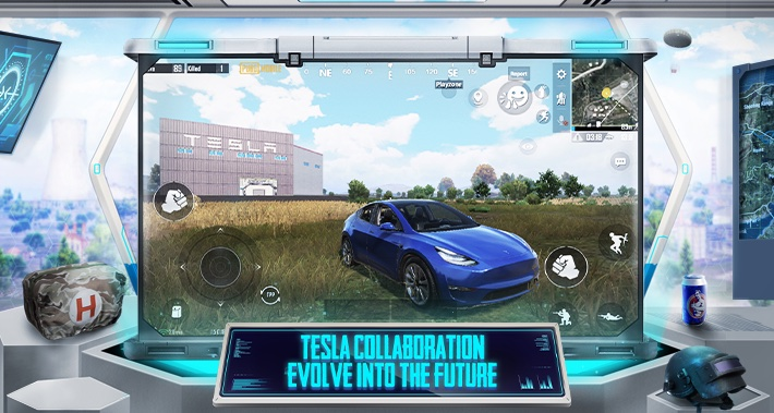 PUBG Mobile si aggiorna e arriva alla versione 1.5: si può guidare una Tesla con pilota automatico