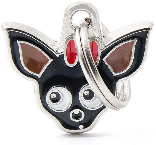 My Family – Medaglietta per Cane e Gatto – Collezione Friends -Chihuahua Nero