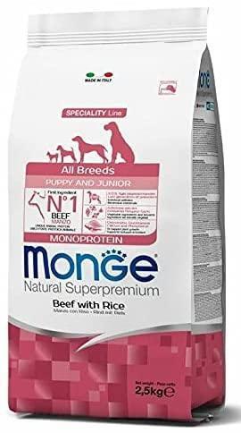 Monge all breeds Puppy & Junior Manzo e Riso 2,5 kg